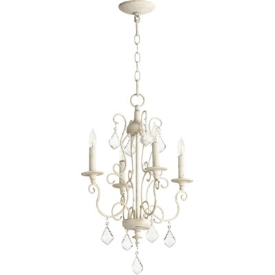Arial 4-Light Candle-Style Chandelier Finish: Persian White
