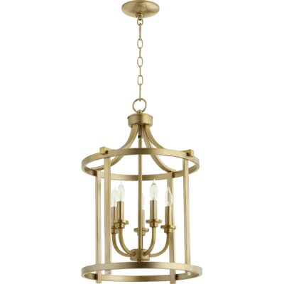 Lancaster Entry 5-Light Foyer Pendant Finish: Aged Brass