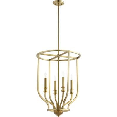 Richmond Entry 4-Light Foyer Pendant Finish: Aged Brass