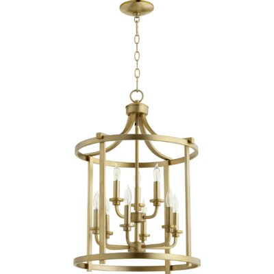 Lancaster Entry 9-Light Foyer Pendant Finish: Aged Brass