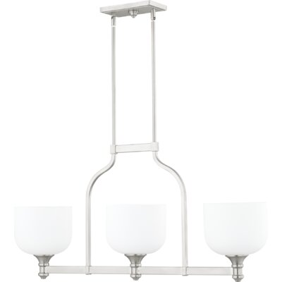 Falbo 3-Light Kitchen Island Pendant Finish: Satin Nickel