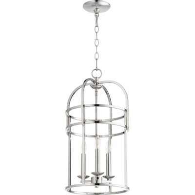 Toque Entry 3-Light Foyer Pendant Finish: Polished Nickel