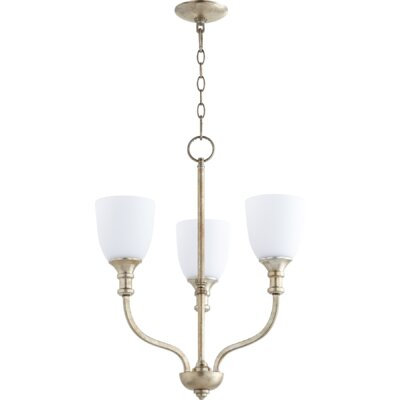 Richmond 3-Light Shaded Chandelier Finish: Aged Silver Leaf
