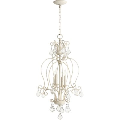 Ariel 4-Light Candle-Style Chandelier Finish: Persian White