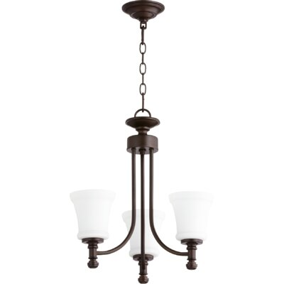 Rossington 3-Light Shaded Chandelier Finish: Oiled Bronze