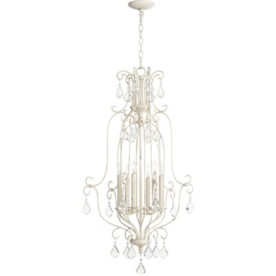 Ariel Entry 6-Light Candle-Style Chandelier Finish: Persian White