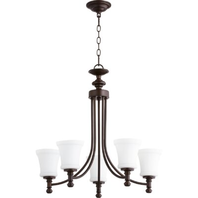 Rossington 5-Light Shaded Chandelier Finish: Oiled Bronze