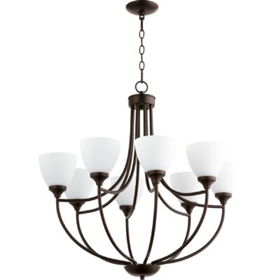 Enclave 8-Light Shaded Chandelier Finish: Oiled Bronze