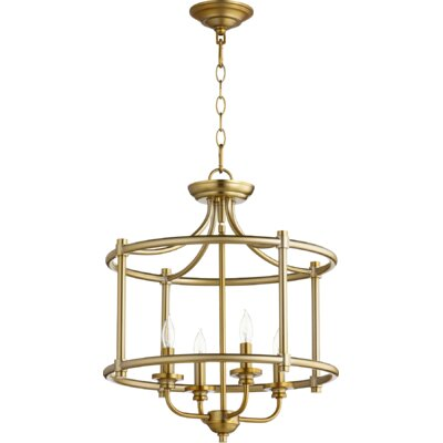 Rossington 4-Light Foyer Pendant Finish: Aged Brass