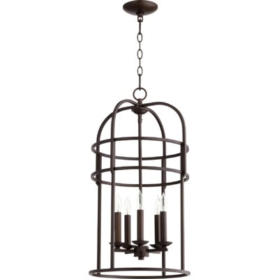 Toque Entry 5-Light Foyer Pendant Finish: Oiled Bronze