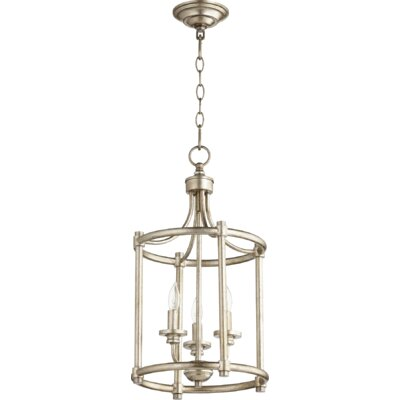 Rossington Entry 3-Light Foyer Pendant Finish: Aged Silver Leaf