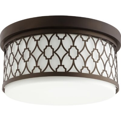 Geometric 3-Light Flush Mount Finish: Oiled Bronze