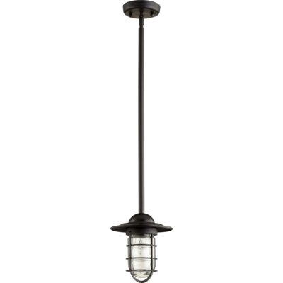 Bowery 1-Light Mini Pendant Finish: Noir