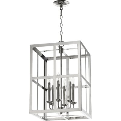 Cuboid II Entry 6-Light Foyer Pendant Finish: Polished Nickel