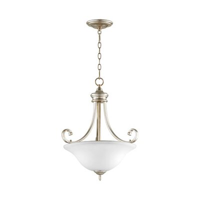 Asheville 4-Light Inverted Bowl Pendant Finish: Aged Silver Leaf