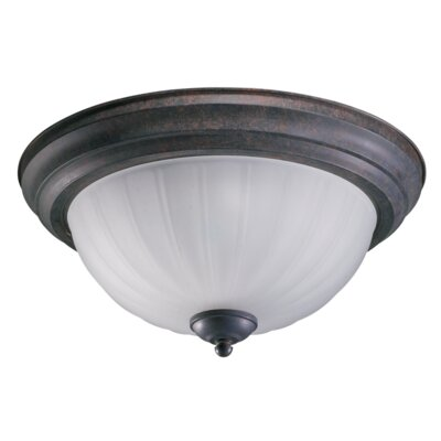 3-Light Flush Mount Finish: Toasted Sienna