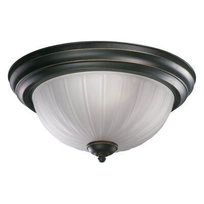 3-Light Flush Mount Finish: Old World