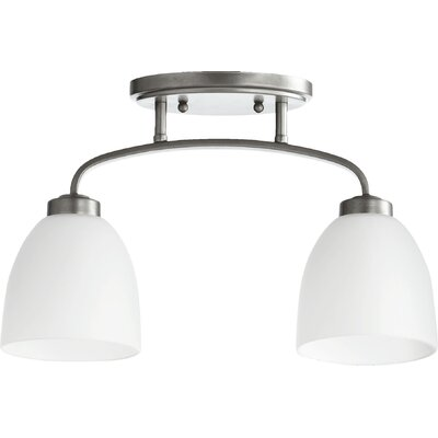 Reyes 2-Light Semi Flush Mount Finish: Classic Nickel