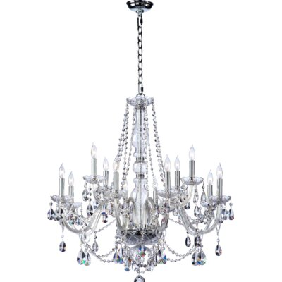Evgenia 12-Light Clear Crystal Chandelier