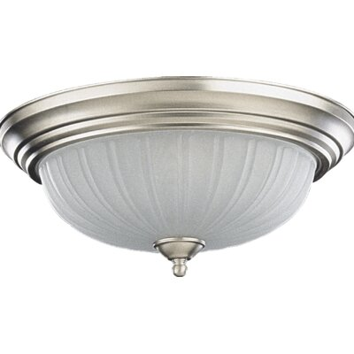 3-Light Flush Mount Finish: Satin Nickel