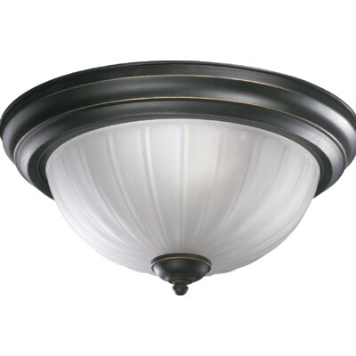 2-Light Flush Mount Finish: Old World
