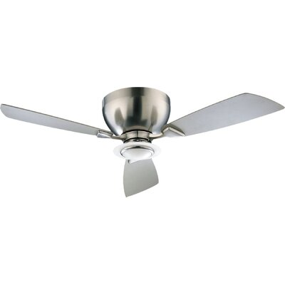 44 Nikko 3-Blade Hugger Ceiling Fan Finish: Satin Nickel with Satin Nickel Blades