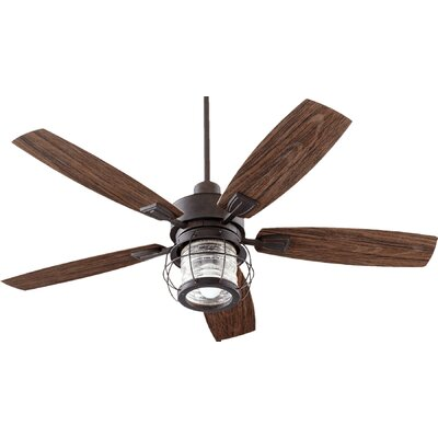 52 Galveston 5-Blade Patio Ceiling Fan Finish: Toasted Sienna with Walnut Blades