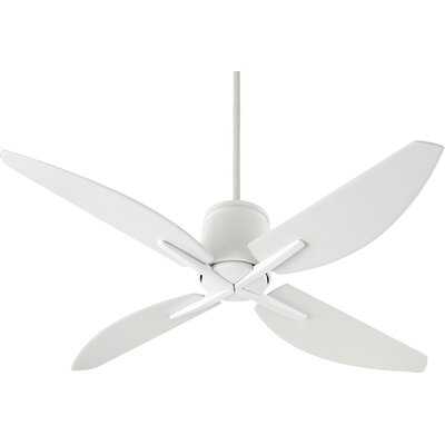 52 Kai 4-Blade Ceiling Fan Motor and Blade Motor and Blade Finish: Studio White