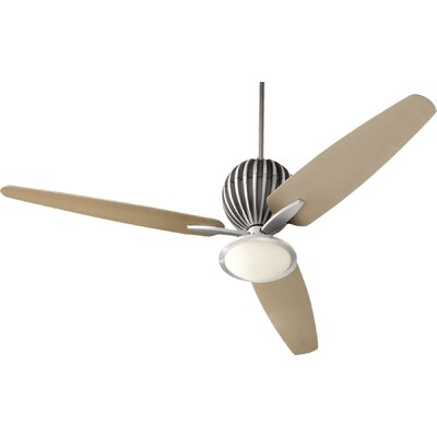 60 Ashmore 3-Blade Ceiling Fan Finish: Brushed Aluminum