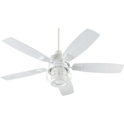 52 Galveston 5-Blade Patio Ceiling Fan Finish: Studio White