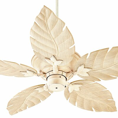 52 Santino 5-Blade Patio Ceiling Fan Finish: Persian White with Weathered Pine Blades