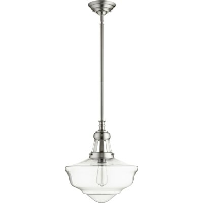 Garron 1-Light Schoolhouse Pendant Finish: Satin Nickel