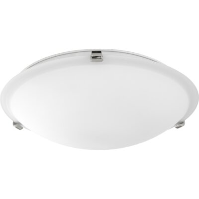 Maryrose 3-Light Flush Mount Fixture Finish: Polished Nickel