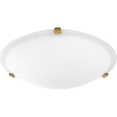 Maryrose 3-Light Flush Mount Fixture Finish: Aged Brass