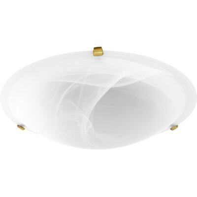 Mirella 4-Light Flush Mount Fixture Finish: Aged Brass