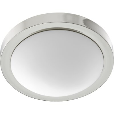 Ascella 2-Light Flush Mount Size: 3.75 H x 13 W, Fixture Finish: Polished Nickel