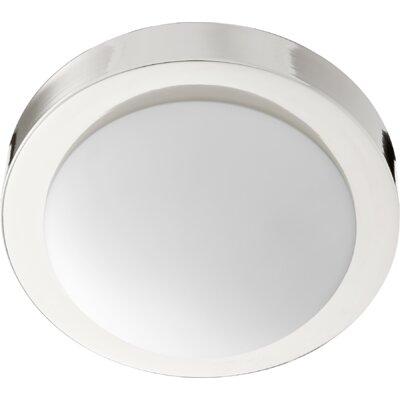 Ascalon 1-Light Flush Mount Fixture Finish: Polished Nickel