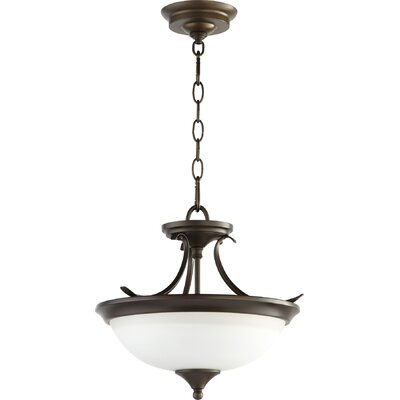 Flora Fall 2-Light Bowl Pendant Finish: Oiled Bronze