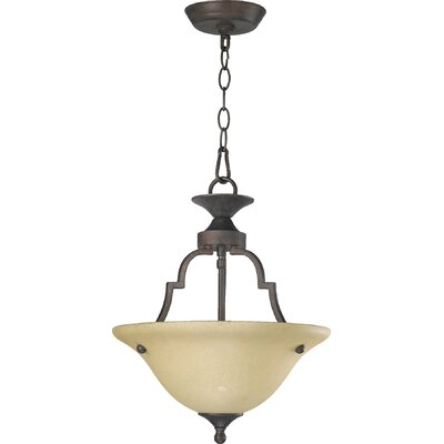 Hertz 2-Light Convertible Inverted Pendant Finish: Toasted Sienna