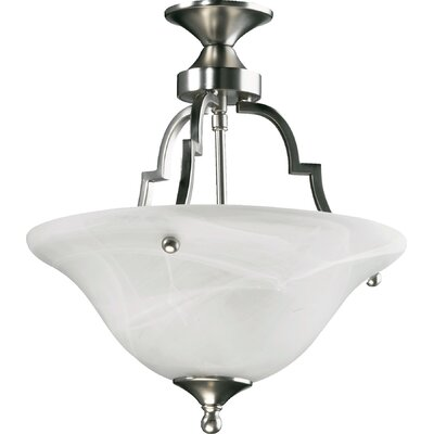 Coventry 2-Light Convertible Inverted Pendant Finish: Satin Nickel