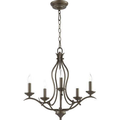 Harnois 5-Light Candle-Style Chandelier Finish: Oiled Bronze
