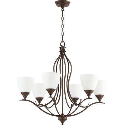 Flora Fall 6-Light Shaded Chandelier Finish: Oiled Bronze