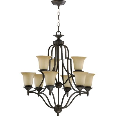 Hertz 9-Light Shaded Chandelier