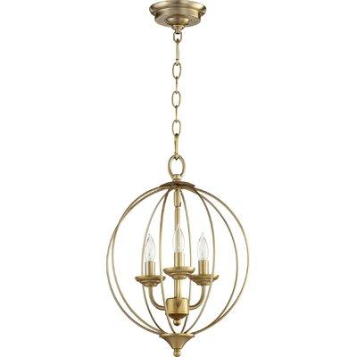 Harnois 3-Light Globe Pendant Finish: Aged Brass