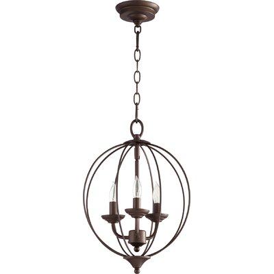 Harnois 3-Light Globe Pendant Finish: Oiled Bronze