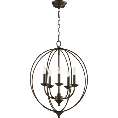 Harnois 5-Light Globe Pendant Finish: Oiled Bronze