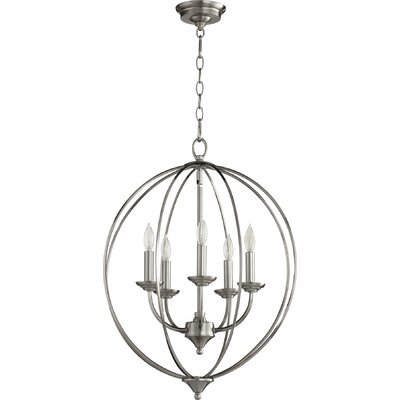 Flora Fall 5-Light Globe Pendant Finish: Satin Nickel