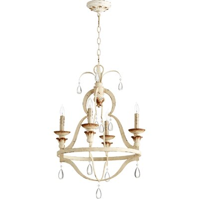 Venice 4-Light Candle-Style Chandelier Finish: Persian White