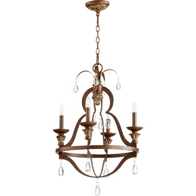 Venice 4-Light Candle-Style Chandelier Finish: Vintage Copper