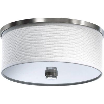 Copeland Flush Mount Size: 6.75 H x 14.5 W, Finish: Satin Nickel Finish